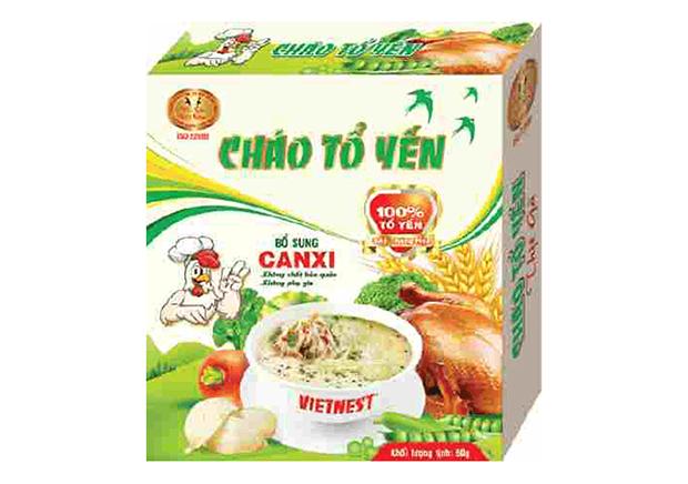 Cháo tổ yến cao cấp Vietnest thịt gà bổ sung Canxi